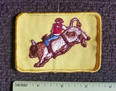 Bull Iron On Patch Steer Top Cow Unused Denim Stitched