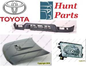 Toyota 4Runner 4 Runner 1996 1997 1998 1999 2000 2001 2002 Headlamp Head Lamp Hood Radiator Support Rebar Front VALANCE