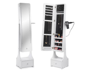 LED Jewellery Armoire with Mirror