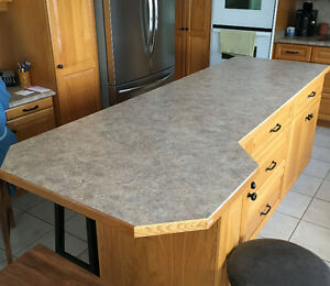 Countertop with finished edge 8 feet by 3 feet