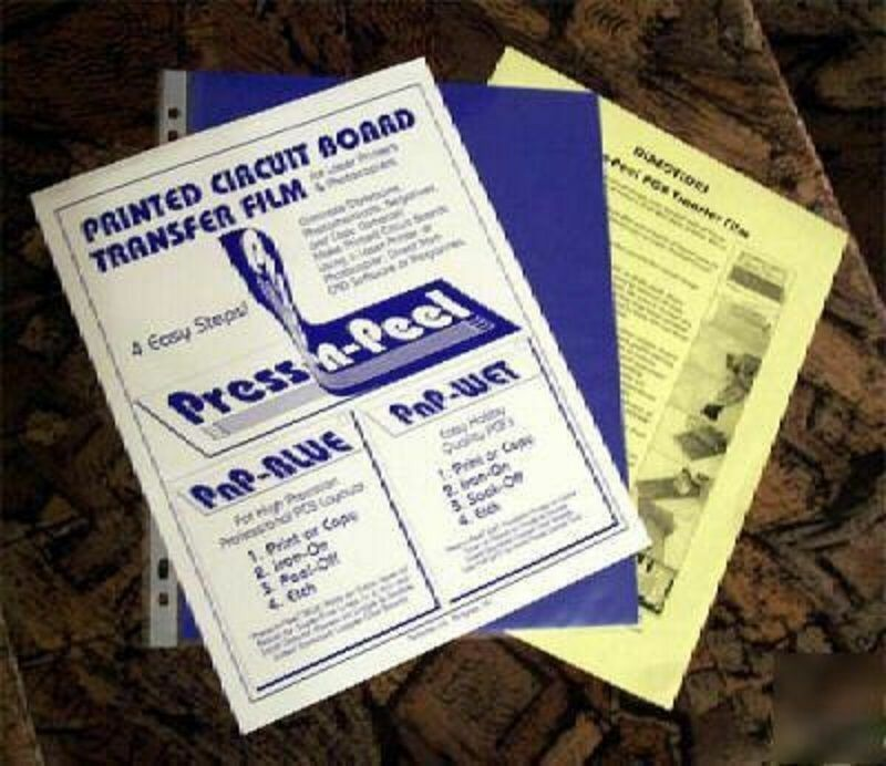 20 x Press-n-Peel Blue PCB Transfer Paper Film Etch Printed Circuit Boards