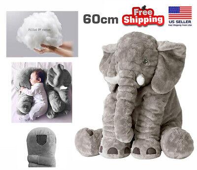 Kids Soft Elephant Stuffed Doll Baby Pillow For Unisex Cute Lovely Flush Gift US