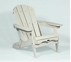 EON White Adirondack / Muskoka Folding Chairs