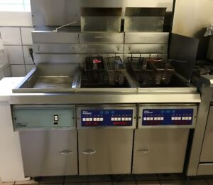 Pitco Fryer Bank with filter system