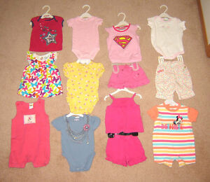 Girls Clothes, Swimsuit - 6, 6-12, 12, 12-18 months / Boots sz 3