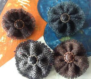 Harris Tweed Fabric Flower Brooch, Sewing Bobbin/Buttons Kitchener / Waterloo Kitchener Area image 1