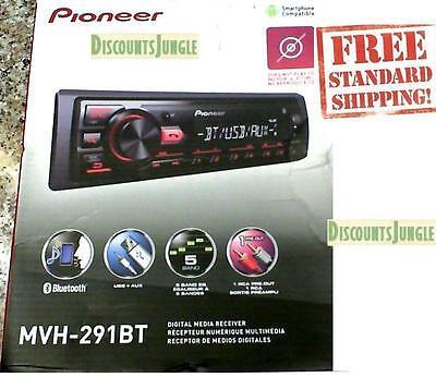 Pioneer Mvh 291Bt Car Stereo Media Player Bluetooth Usb Aux Mic Hands Free Calls