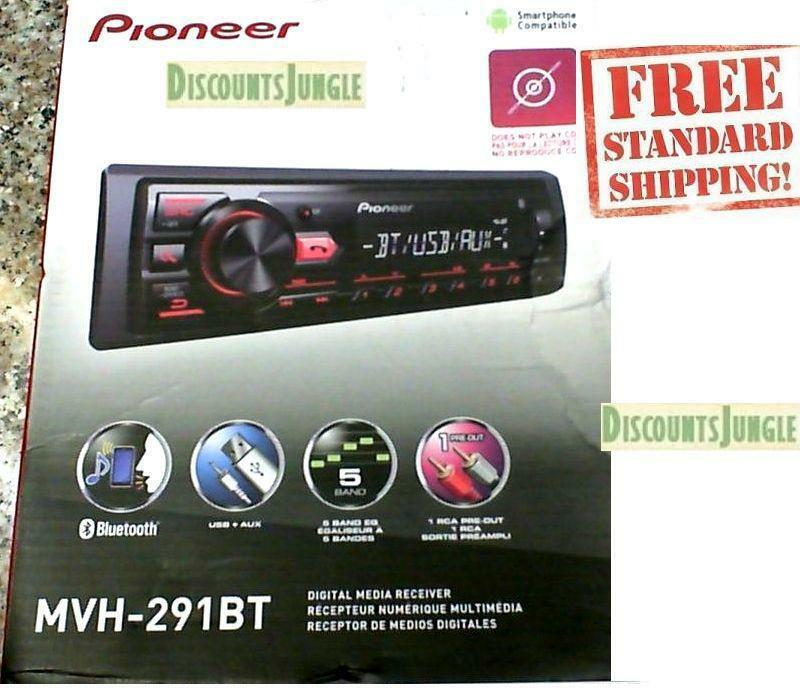 $58.95 - Pioneer MVH-291BT Car Stereo Media Player Bluetooth USB AUX MIC Hands Free Calls