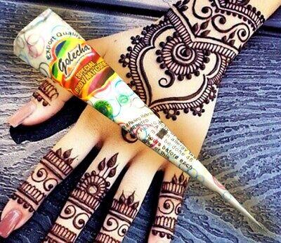Coni per i tatuaggi all'henné, tatuaggi temporanei, body art, colore bianco, 25g