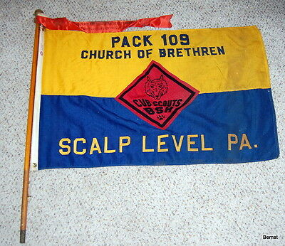 VINTAGE BOY SCOUT- PACK 108 PACK FLAG  - SCALP LEVEL, PA