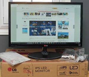 "Nearly New LG 23"" 1080P Full HD Slim IPS LED Computer Monitor"