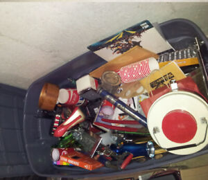 Huge bin full of antiques/collectibles. First $100 takes it!