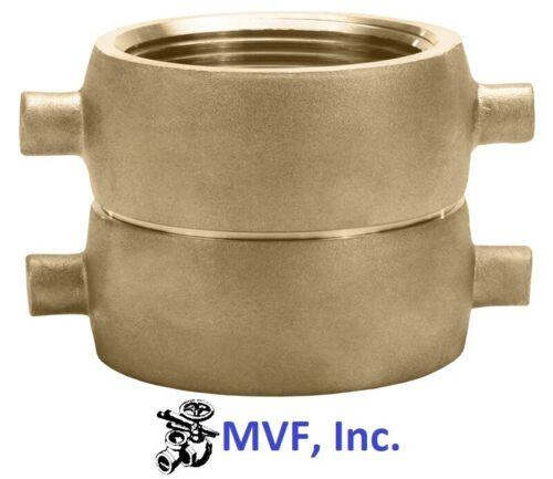 """1-1/2"""" Female NST X 1-1/2"""" Female NST Swivel Adapter Brass Hydrant Hose <1911520"""