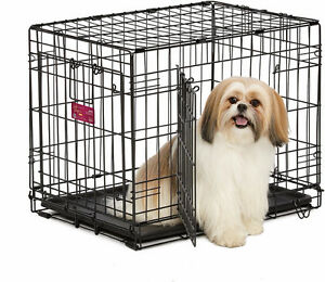 "Midwest double door dog crate NEW IN BOX 24"" and 30"""
