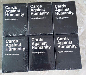 The Cards Against Humanity - Expansion #1-6 - Complete Set!!