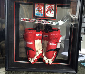 Signed Eric Staal framed display as shown