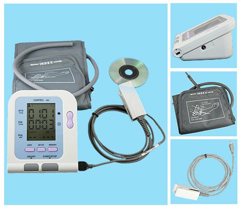 CONTEC ,Digital Blood Pressure Monitor CONTEC08C+adult cuff+software+adult SPO2