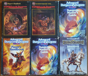 DUNGEONS & DRAGONS 2ND EDITION HARDCOVERS