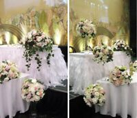 Winter wedding,decor,centerpieces,vases,silk,artificial,rental