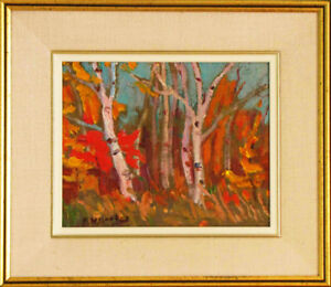 """Birch Bush""  Oil Painting by Ralph W. Burton"