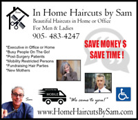 """In Home Haircuts by Sam - """"We come to you!"""""""
