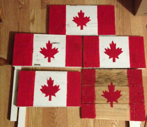 Wooden Canada flag