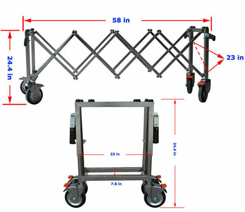 Movable Funeral Stretcher Truck Stainless Steel Church Chapel Casket Stand