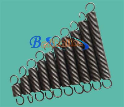 Wire Dia 1.0mm OD 6mm Length 260mm Dual Hook Tension Spring 5Pcs