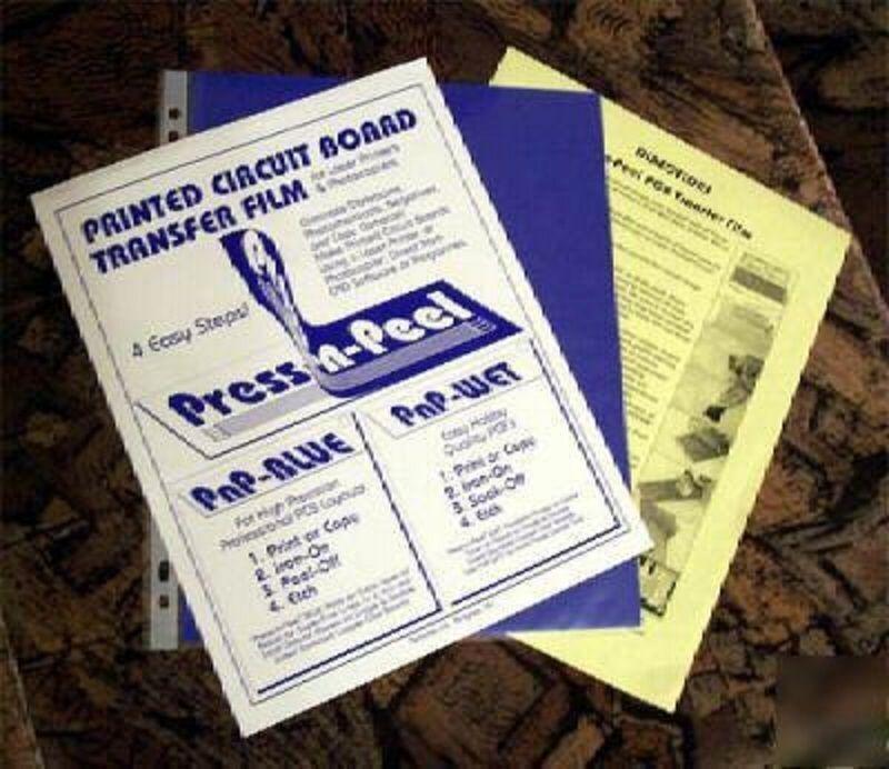 5 x  Press-n-Peel Blue PCB Transfer Paper Film Etch Printed Circuit Boards