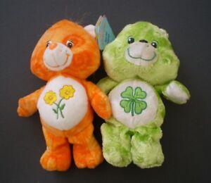 Toutou Plush Care Bears Lot de/of 2-Friend Bear & Good Luck Bear