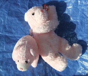 New Cute Baby Gund and Ty plush pink bears both for: