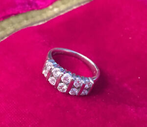 14k White Gold Handcrafted Diamond Ring