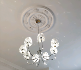 Crystal Chrome Laura Ashley Capri chandelier light