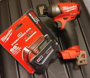 Brand New Milwaukee M18 Fuel Impact Driver w 5.0Ah Battery