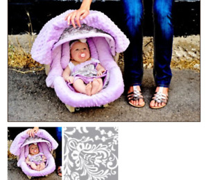 Car seat covers-5 piece (lilac and grey)