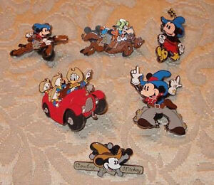 Disney Trading Pin Collection Rare & Retired Cowboy Mickey Set
