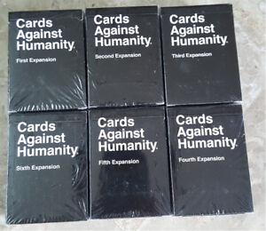 The Cards Against Humanity - Packs #1-6 - Full Set w/ 670 Cards!