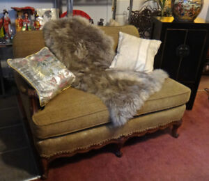 Couch beige..5 feet length..one large cushion, with pillow
