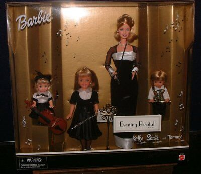 2000 Mattel Evening Recital Gift Set Barbie With Kelly, Stacy, And Tommy  MIB