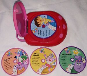 Dora Music Player with Handle and 4 Music CD Discs London Ontario image 2