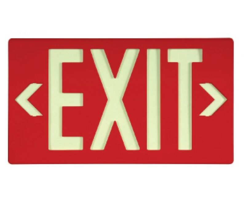 NEW National Marker 7050100B GLO BRITE® ECO EXIT SIGN RED