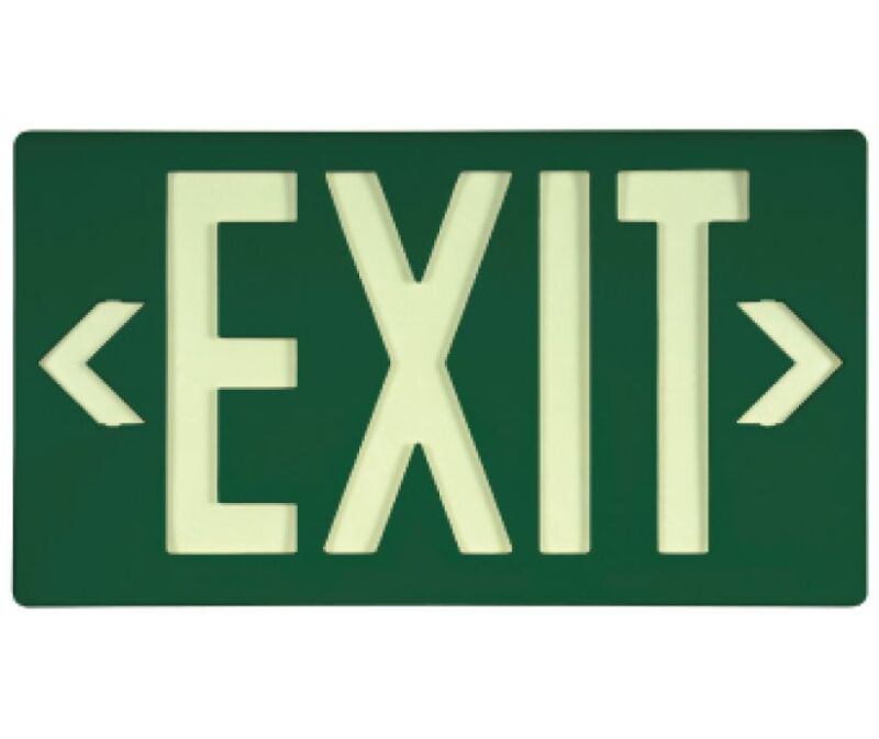 NEW National Marker 7042B GREEN EXIT SIGN