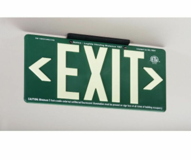NEW National Marker 7080B 100FT GREEN EXIT SIGN