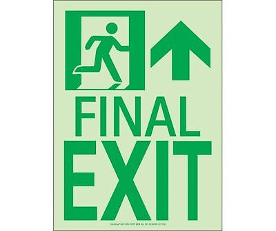 NEW National Marker 50F-3SN-R FINAL EXIT - Final Exit Sign