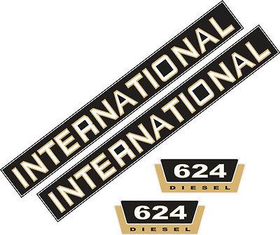 624 Aufklebersatz Aufkleber für IHC 624 Traktor, Schlepper