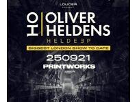 2 tickets for sale - Oliver Heldens