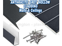 Anthracite Grey uPVC Hollow Soffit Cladding