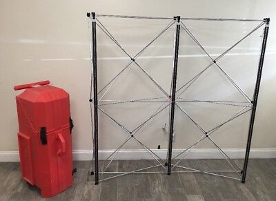 Nomadic Instand 5x5 Trade Show Pop Up Display W Case Table Top Booth Display