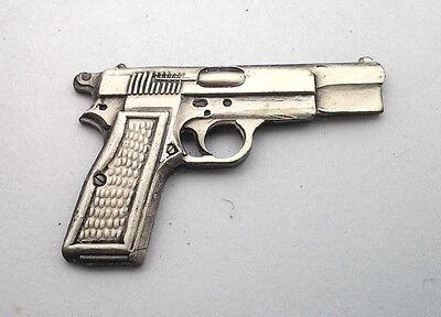 9MM HAND GUN  Pro-Gun Pro-Trump Hat Pin 14140 HO SMALL PEWTER