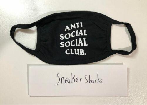 Anti Social Social Club 100% Authentic ASSC Black Face Mask One Size